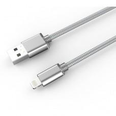 Кабел за данни, LDNIO LS17I,  Lightning (iPhone 5/6/7/SE), 2.0m, С оплетка, Сребрист, Златист - 14397