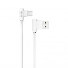 Кабел за данни DeTech DE-21M, Micro USB, 1.0m, Бял - 14129