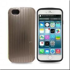 Протектор No brand за iPhone 6 Plus, Пластмаса, Златист - 51204