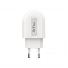 Мрежово зарядно устройство DeTech, DE-28, 5V/2.4A 220V, 1 x USB, Бял - 14132
