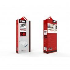 Мрежово зарядно устройство, EMY MY-221, 5V 2.1A, Универсално, 2 x USB, без кабел - 14403