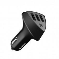 Зарядно устройство за кола, Remax Aliens RCC-304, 5V/4.2A, Универсално, 3 x USB, Без кабел,Черен - 14414