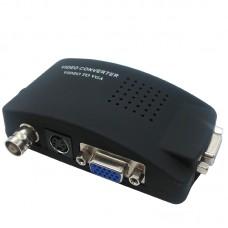Конвертор, No brand, BNC / S-Video към VGA, Черен - 18300