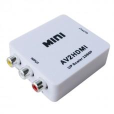 Конвертор No brand AV към HDMI, Бял - 18257