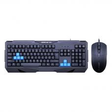 Гейминг комплект мишка и клавиатура, ZornWee Resident Evil, Черен  - 6076