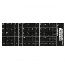 Букви за клавиатура, DeTech, Латиница, Черен  - 17043