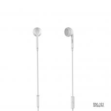 Единична слушалка Remax RM-101, За телефон, Микрофон, Различни цветове - 20413