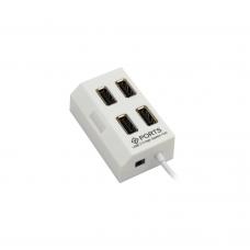 USB хъб No Brand, USB 2.0, 4 Порта, Различни цветове - 12055